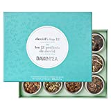 DAVIDsTEA David's Top 12 Tea Sampler, Premium Assortment of 12 Tins of Loose Leaf Tea Makes 2 Cups Each, 104 g