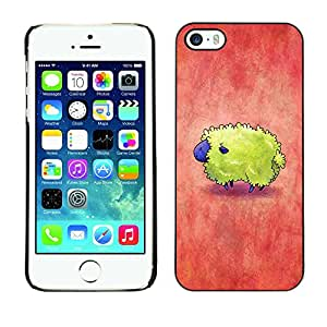 Soft Silicone Rubber Case Hard Cover Protective Accessory Compatible with Apple iPhone? 5 & 5S - colorful red yellow cute tiny
