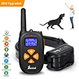 Cheap YonRui Dog Training Collar with Remote One Touch Design  Rechargeable Dog Shock Collar with Beep/Vibrating/Shock/Light Collar for Medium Large Dogs(15-100lbs)-IP67 Waterproof