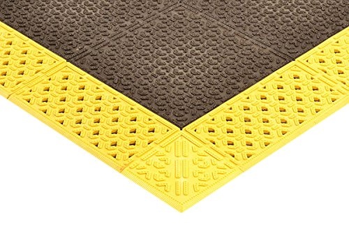NoTrax 922H4296BY Cushion-Lok W/Grip-Step Heavy Duty 42X96 Yellow, 0.875