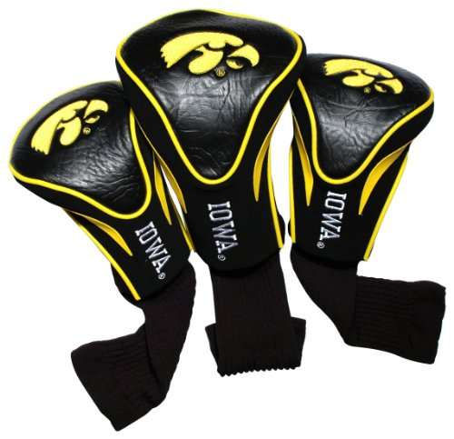 3 Pack Golf Headcovers (NCAA Iowa Hawkeyes 3 Pack Contour Head Covers)