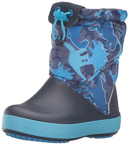crocs Crocband LodgePoint Graphic Boot , Blue Camo, 7 M US T