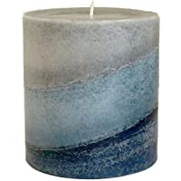 Wicks N More Indigo Mist Handmade Pillar Candles (3x3)