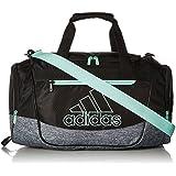 adidas Defender III Duffel Bag, Black/Onix Jersey/Clear Mint Green, Small