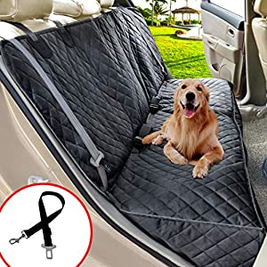 Henkelion Dog Seat Cover for Back Seat, Dog Car Seat Covers for Dogs Pets, Car Hammock for Dogs, Bench Rear Seat Cover for Dogs, Waterproof Protective Dog Seat Covers for Cars SUV Trucks - Black 66