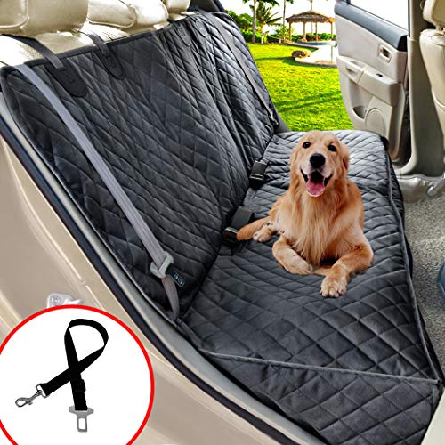 Henkelion Dog Seat Cover for Back Seat, Dog Car Seat Covers for Dogs Pets, Car Hammock for Dogs, Bench Rear Seat Cover for Dogs, Waterproof Protective Dog Seat Covers for Cars SUV Trucks - Black