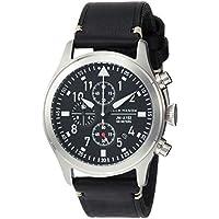 Jack Mason Men's Chronograph Watch Aviator Black Leather Strap JM-A102-015