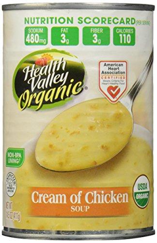 Health Valley Organic Soup, Cream of Chicken, 14.5 Ounce