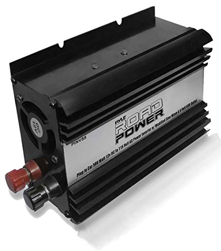 Pyle PINV55 Plug In Car 500 Watt 12V DC to 115 Volt AC Power Inverter with Modified Sine Wave and 5 Volt USB Outlet (Renewed)