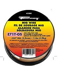 FORNEY 42300 Flux Core Soldadura MIG (, acero al carbón e71tgs, .030 diameter, 2 Pound Spool