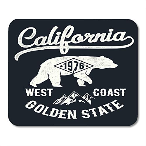 - Emvency Mouse Pads Brown Grizzly Vintage California Mountain and Bear Adventure Republic Silhouette Mousepad 9.5