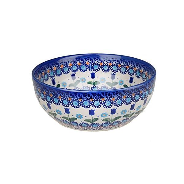 Classic Boleslawiec Pottery Hand Painted Ceramic Salad Bowl 950ml, 073-U-006