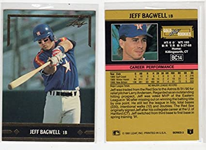 1991 Gold Leaf Rookies Jeff Bagwell Rookie Baseball Card