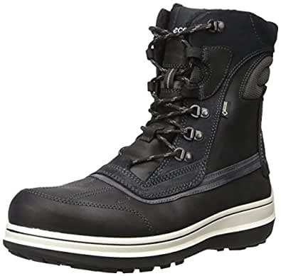 Amazon.com | ECCO Men's Roxton Gore-TEX Snow Boot, Black