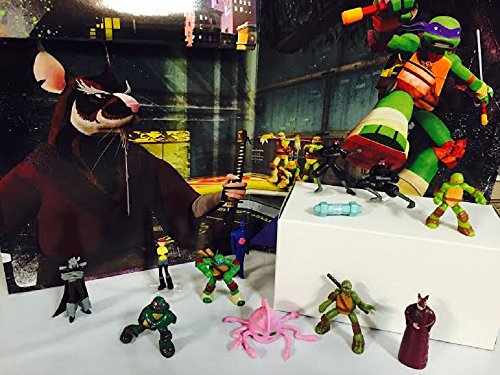 Nickelodeon Teenage Mutant Ninja Turtles 15 Piece Birthday Cupcake Topper Set Featuring 2