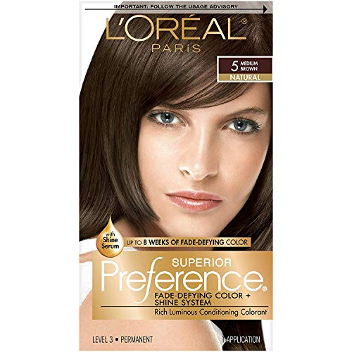 L'Oreal Superior Preference Permanent Hair Color, 5 Medium Brown 1 ea (Pack of 5)