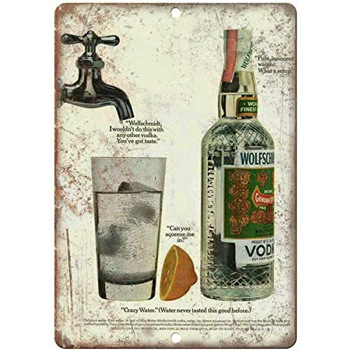 - Tollyee Wolfschmidt Vodka Vintage Liquor Ad Reproduction Metal Sign 10 X 14 inches
