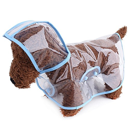 S-Lifeeling Fashion Puppy Pet Raincoat Transparent Waterproof Outdoor Dog Raincoat Hooded Jacket Poncho Pet Raincoat for Medium Dogs, Large Dogs by S-Lifeeling