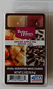 Better Homes And Gardens Spiced Apple Pie Dual Scent Wax Cubes Home Kitchen