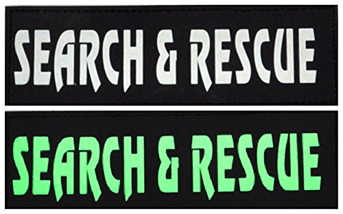 (Mihqy Removable Dog Patches for Vests and Harness - Set of 2 ,Reflective , 2