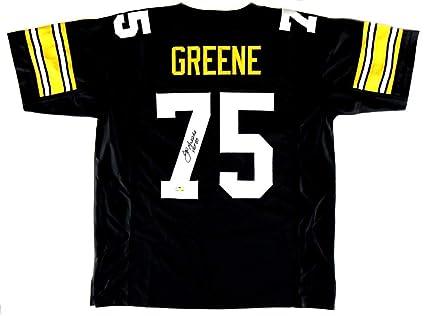 88bd67e56cd Joe Greene Signed Jersey - Throwback Black Custom quot HOF 87 quot  ...