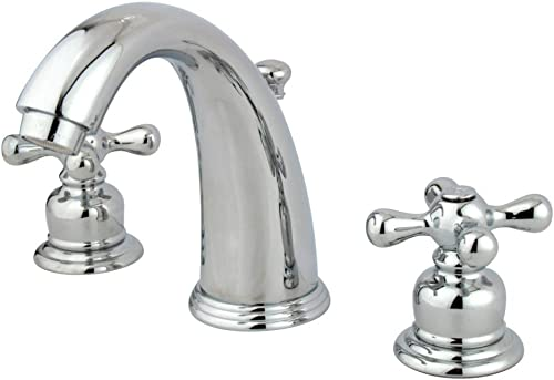 Kingston Brass KB981AX Victorian 8-Inch Widespread Lavatory Faucet, Polished Chrome