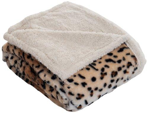 Lavish Home Throw Blanket, Fleece/Sherpa, Tiger