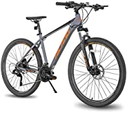 Hiland 27.5 Inch Mountain Bike Aluminum Frame 27-Speed MTB Bicycle for Man with 16/18/19.5 Inch Aluminum Frame