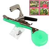 MyBreeze@ Agriculture Tapener Plant Tying Tool Tape Tool Hand Tying Machine for Fruit Flower Vegetable Vine Tomato with Tape & Staples (BZJ-GR)