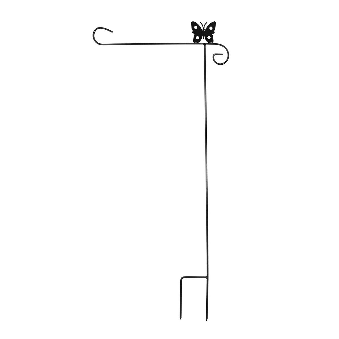 Briarwood Lane Wrought Iron Butterfly Garden Flag Stand 40'' H