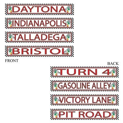 Racing Street Sign Cutouts   (4/Pkg)
