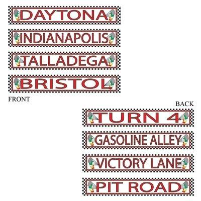 Century Novelty Racing Street Signs Cutouts
