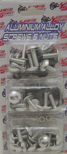 Yana Shiki YNSK-H087S Silver Fairing Bolt Kit for Honda CBR F4//F4i