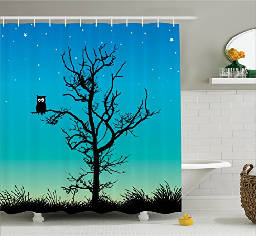 ambesonne-owls-home-decor-collection-owl-in-a-naked-winter-tree-under-clear-night-sky-with-stars-gra