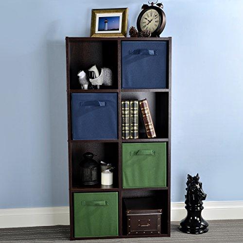 VCCUCINE Multipurpose Video Game Media Bedroom Book Storage Cabinet 8 Cube Organizer, Espresso