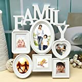 Easyflower Add Much Fun Photo Frame Family Picture Frames Photo Frame Wall Hanging Picture Holder Display Home Decor White Plastic