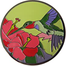 Jeweled Hibiscus Golf Ball Marker with Colorful Visitor Hat Clip