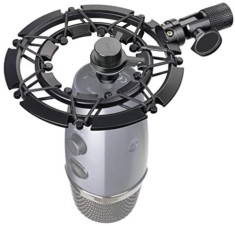 Blue Yeti Nano Shock Mount, Lightweight Alloy Shockmount Reduces Vibration Shock Noise Matching Mic Boom Arm, Designed for Blue Yeti Nano Microphone by way of YOUSHARES