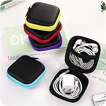 Estuche para audífonos de 2 Piezas, Estuche Portátil con Mosquetón para Auriculares y Cable USB, Estuche Portátil para Bolsos de Cuero para iPod, Cable para iPod para audífonos, Color Aleatorio: Amazon.es: Electrónica