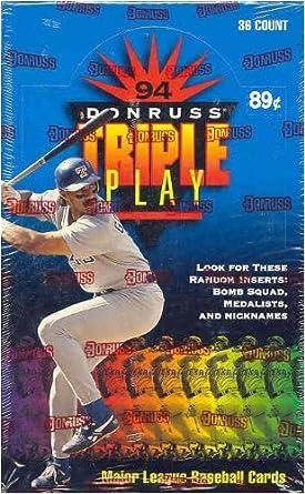 1994 Donruss Triple Play Baseball Cards Unopened Hobby Box At