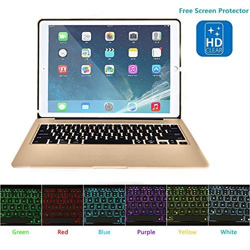 Hiotech Ipad Mini 4 Bluetooth Keyboard Case Aluminum Alloy Keypad Cover For Ipad Mini 4 With 7 Led Backlit Keys   2800Mah Capacity Power Bank  Gold