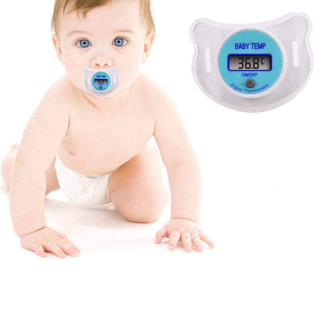 Fanala Baby Kids LED Pacifier Thermometer Mouth Temperature Monitor Tool Thermometers by Fanala
