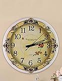 SUNQIAN-Retro European American living room wall clock, quartz clock mute, fashion creative clock, electronic clock, modern European white hanging wall clock