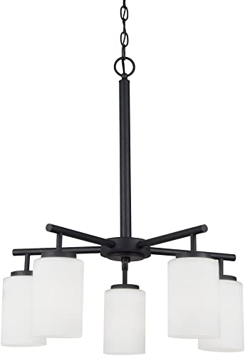Sea Gull Lighting 31161-839 Oslo Five-Light Chandelier Hanging Modern Fixture, Blacksmith Finish