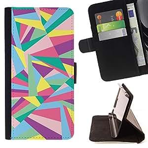 For Sony Xperia M2 Case , Líneas Líneas abstractas Oro- la tarjeta de Crédito Slots PU Funda de cuero Monedero caso cubierta de piel