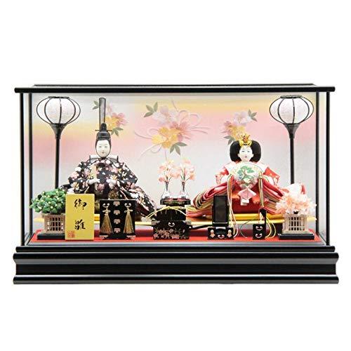 雛人形 ケース入り親王飾り[幅62cm][it-1007] 雛祭り   B07JWDJQ1J