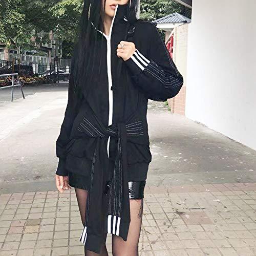 Due Pnygfdlbgi Donna Casual Quattro Indossare Black Giacca Manicotti Camicia nIIrA7q