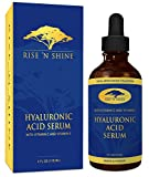 Facial Moisturizer Recipe Aloe Vera - (4 oz) Hyaluronic Acid Serum with Vitamin C, Jojoba Oil, Aloe Vera, Witch Hazel & Green Tea - Best Organic Anti-Aging and Collagen Stimulant for Face, Skin and Eyes - Reduces Wrinkles and Fine Lines