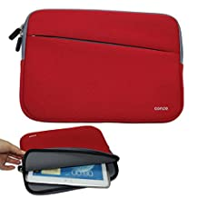 Conze 10¡±Tablet Sleeve Water-resistant Protective Pouch Cover/Brief case Carrying Bag with Front Pocket fits for Lenovo N23/Tab 4 10/Plus/Miix 510/700/300/310 in Red