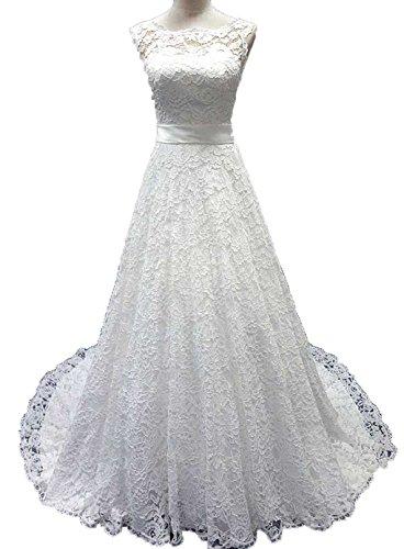 4204873310c Product review for Snowskite Women s Elegant High Neck Lace Wedding Bridal  Dress – Women Plus-Size Fashion